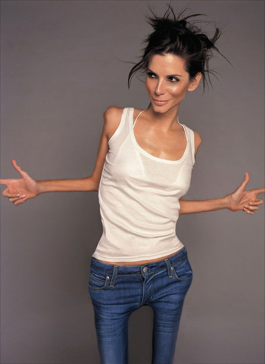 Super Skinny Stars Celebrities Get Shocking Anorexia Photoshop - This shocking video shows how photoshopped models are